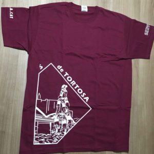 Davant de la camiseta dels Castellers de Tortosa