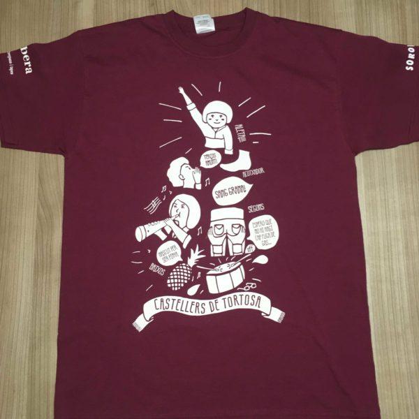 Camiseta dels Castellers de Tortosa 2017